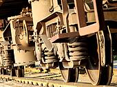 Wheels of the freight train