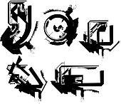 grunge font. Vector illustration
