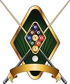 Nine Ball Emblem Design Banner