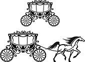 Horse Carriage Clip Art - Royalty Free - GoGraph