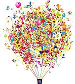 Happy holiday, funny air balloon for your design