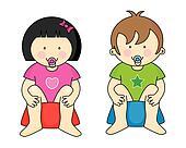children on the potty