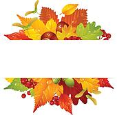 Vector autumn frame with fall leaf