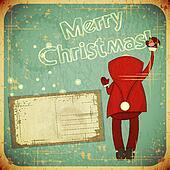 Christmas Retro card with Santa Claus