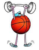 Basketball Man Lifting Weights.