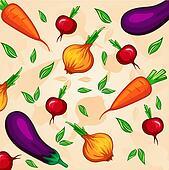 Vector vegetables pattern