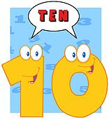 Number Ten With Speech Bubble