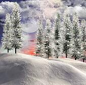 Magic winter landscape