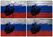 Russian flag collage