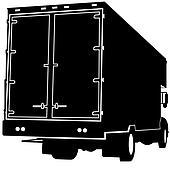 Rear View Truck Silhouette