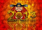 2013 Happy New Year Chinese Money God Illustration
