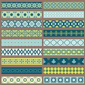 Set of Ribbons and Borders - for design and scrapbook - in vector