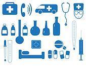 set of medicine eguipment