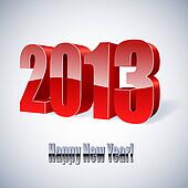 New 2013 year glossy figures vector illustration.