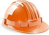 Construction safety helmet isolated on white background vector i