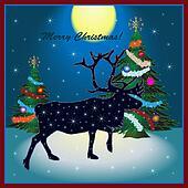 Christmas card with reindeer