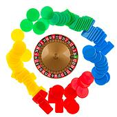 Used roulette wheel and ball