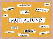 Mutual Fund Corkboard Word Concept