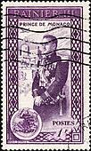 Stamp Prince de Monaco 1F