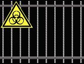 Grate biological hazard