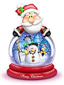 Whimsical Snowman Snow Globe