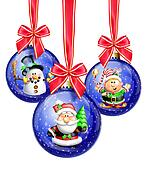 Whimsical Cartoon Christmas Balls