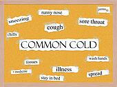 Common Cold Corkboard Word Concept