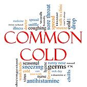 Common Cold Word Cloud Concept