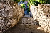 Narrow Street and Stairway in Pula, Croatia