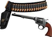 revolver, a belt holster