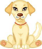 Cute pale puppy