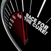 Race for the Cure Speedometer Fundraiser Words