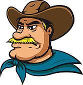 American cowboy or sheriff