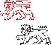 Heraldic lion king