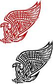 Griffin symbol in celtic style
