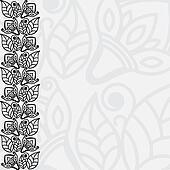 Filigree floral background