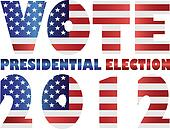 Vote 2012 USA Presidential Election Illustration