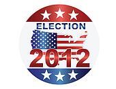 Election 2012 Button Illustration