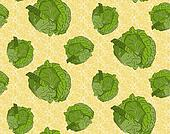 Seamless background with cabbage