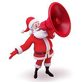 santa having loud speaker