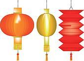 Three Chinese Paper Lanterns