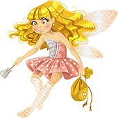 Pretty tooth fairy in pink