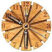 Wooden Kitchen Clock