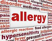 Allergy message background