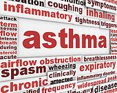 Asthma poster background