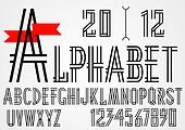 Black simple alphabet letters and numbers