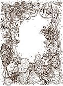 Decorative frame of bindweed