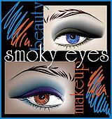 Smoky eyes, vector illustration