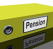 Pension File Contains Retirement Documents And Records