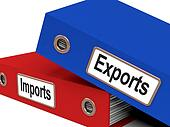 Export And Import Files Show International Trade Or Global Commerce